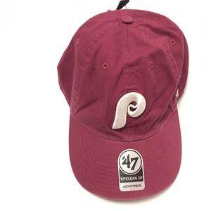 """Phillies MLB Coop '47 Clean Up Coop """"P"""" Men's Hat"""